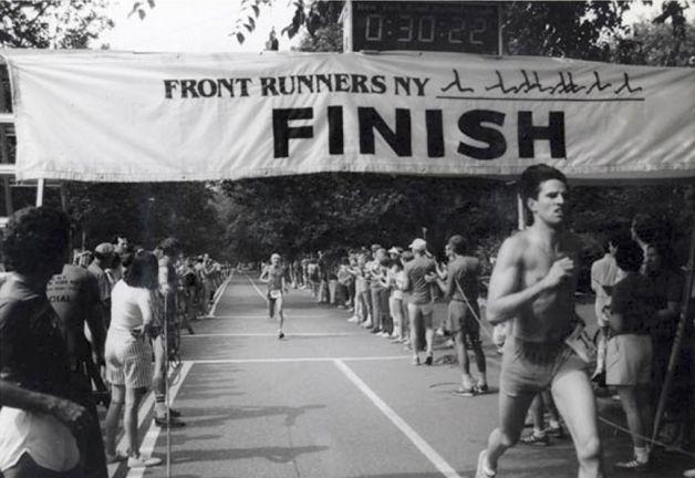 Pride Run finish line, 1982