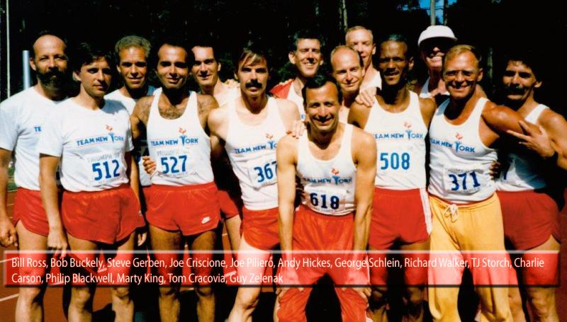 Gay Games NYC Team 1986 with names captioned