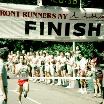 Pride Run finish line, 1983