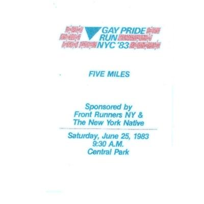 Gay Pride Run NYC 1983 [booklet]