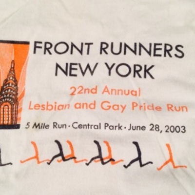 22nd Annual Lesbian and Gay Pride Run, 5 Mile Run, Central Park, June 28, 2003 [T-Shirt]