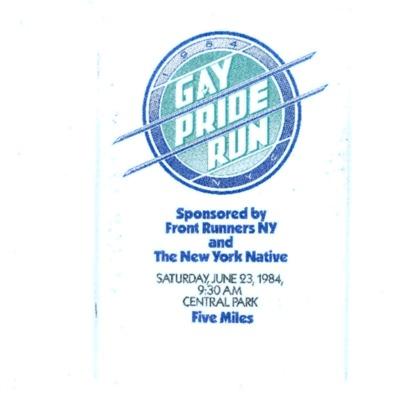 Gay Pride Run NYC 1984 [booklet]