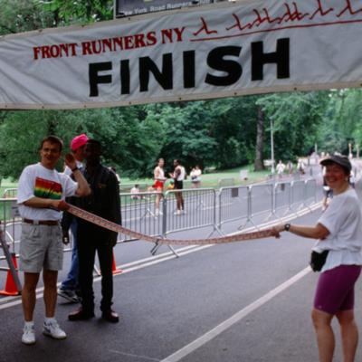 Pride Run Finish Line