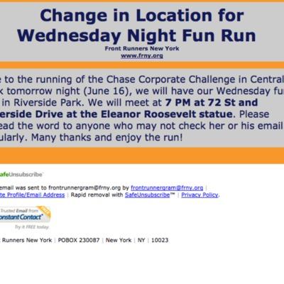2010_Special Front Runner Gram: Change in Location for Wednesday Night Fun Run_1103484736947.pdf