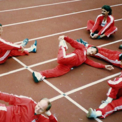 Gay Games 1986 - Stretching.jpg