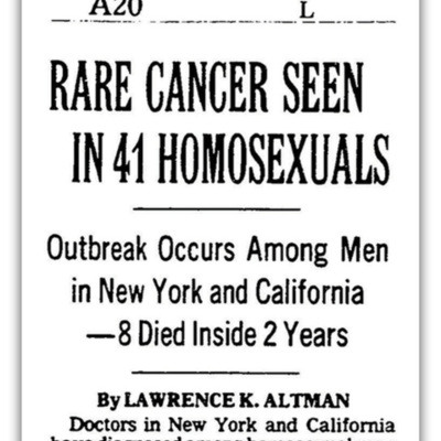 Rare Cancer Seen in 41 Homosexuals