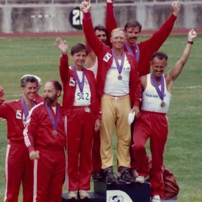 Gay Games 1986 - George Schlein, Bill Ross, Bob Buckley, Guy Zelenak, name unkonwn, Andy Hickes, Rick Reiss.jpg
