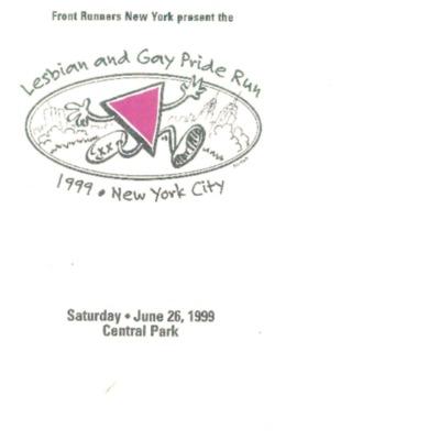 Pride Run 1999 [booklet]