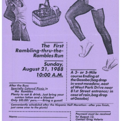 The First Rambling thru the Rambles run [flyer]