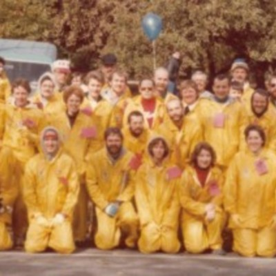FRNY members at the NY Marathon water station, 1982