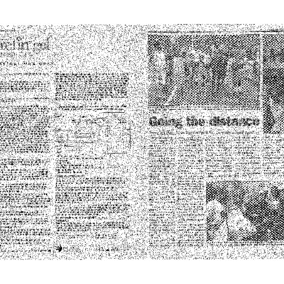 Going the Distance- Front Runners have been around for 20 years-- and running [New York Blade newspaper clipping].pdf