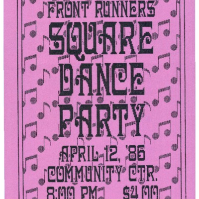 Front Runners Square Dance Party [flyer]