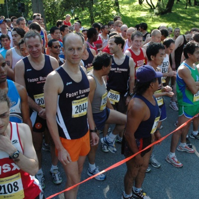 Race start line with FRNY members