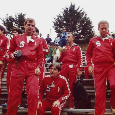 Gay Games 1986 - Mickey Zacuto, Inger-Johanne Berger, Joel Ifcher, Connie Knapp, Joe check last name, Steve Gerben, Marty King.jpg