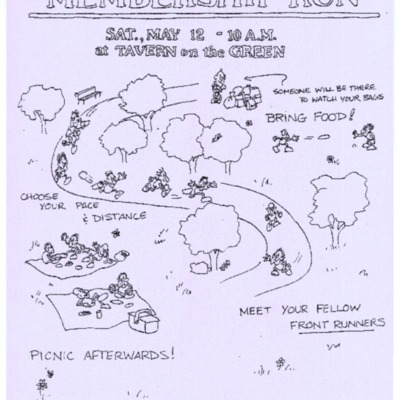 Meet the Membership Run, 1984 [flyer]